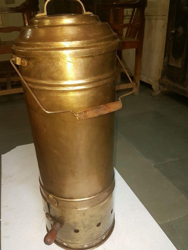 Antique Kitchen Cooker Brass Portable Coal Burning Fuel