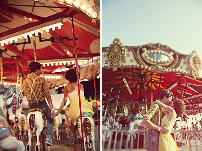 Not too big on the photos (or treatment...) but shooting an engagement session at the fair is a fantastic idea!