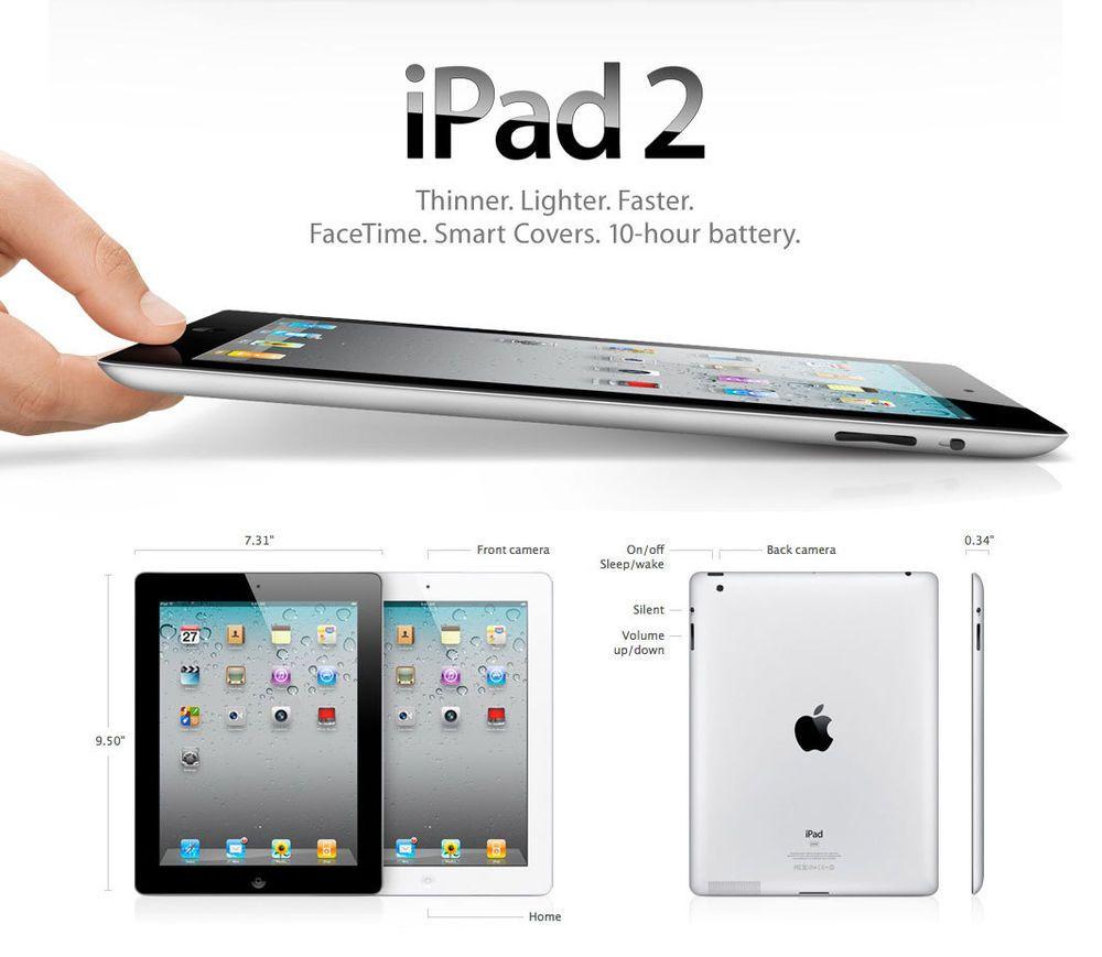Apple Ipad 2 16gb Wi Fi 9 7in Black Silver Mix Uk Ipad Ipad Apple Ipad Tablet