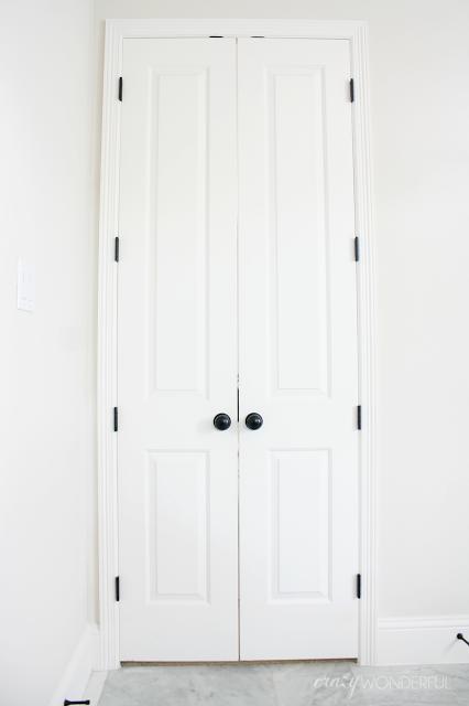 Crazy Wonderful  Oil Rubbed Bronze Door Hinges Installed, Black Hinges On  White Doors,