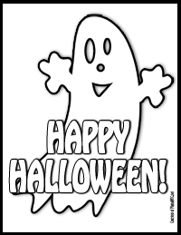 Happy Halloween! Download FREE printables coloring pages