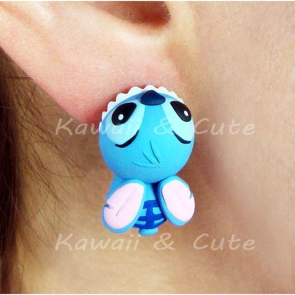 Earrings Stitch Ear Biting Disney Lilo and Stitch ($23) ❤ liked on Polyvore featuring jewelry, earrings, imitation jewelry, disney, earrings jewelry, fake earrings and disney jewellery