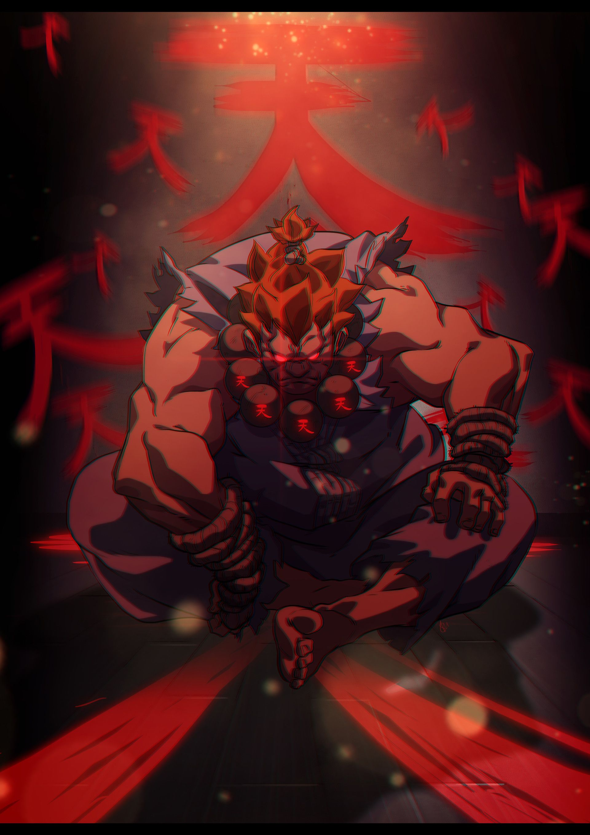 Artstation Akuma Santosh Moses Street Fighter Art Street