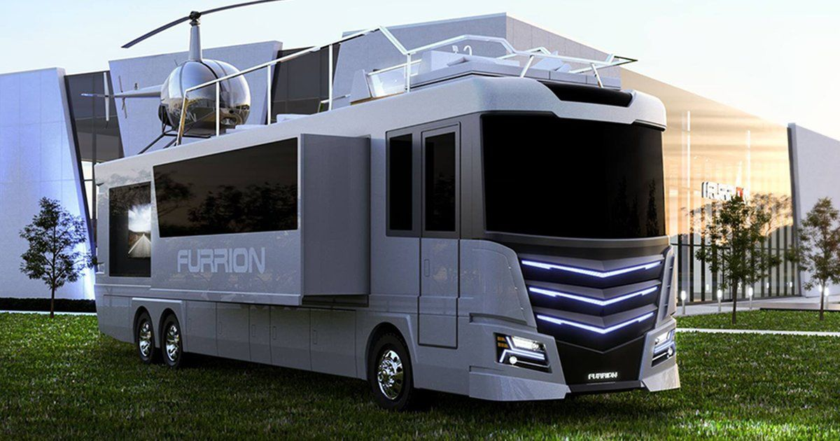 NOT EVERY RV COMES WITH A HELICOPTER AND A HOT TUB — BUT