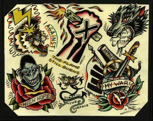Rock tattoo ideas punk 30 Cool