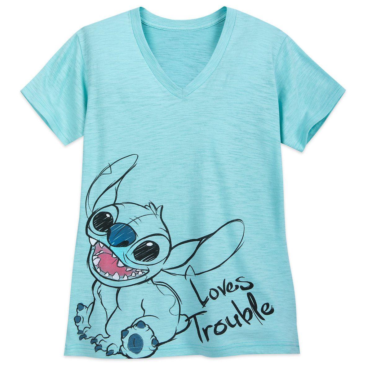 Thumbnail Image of Stitch V Neck T Shirt for Women # 1