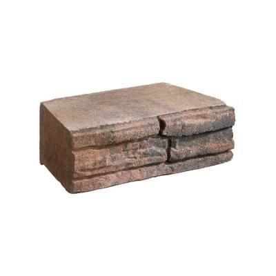 Natural Impressions 4 In X 12 In Autumn Blend Flagstone Concrete Retaining Wall Block 604704aub Concrete Retaining Walls Retaining Wall Block Retaining Wall