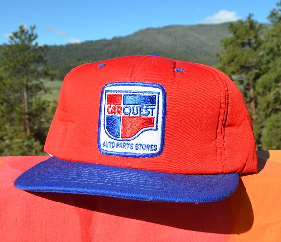 37b77bd3096124 vintage 70s trucker mesh hat CARQUEST nfl football car auto. Find this Pin  and more on Vintage Hats ...