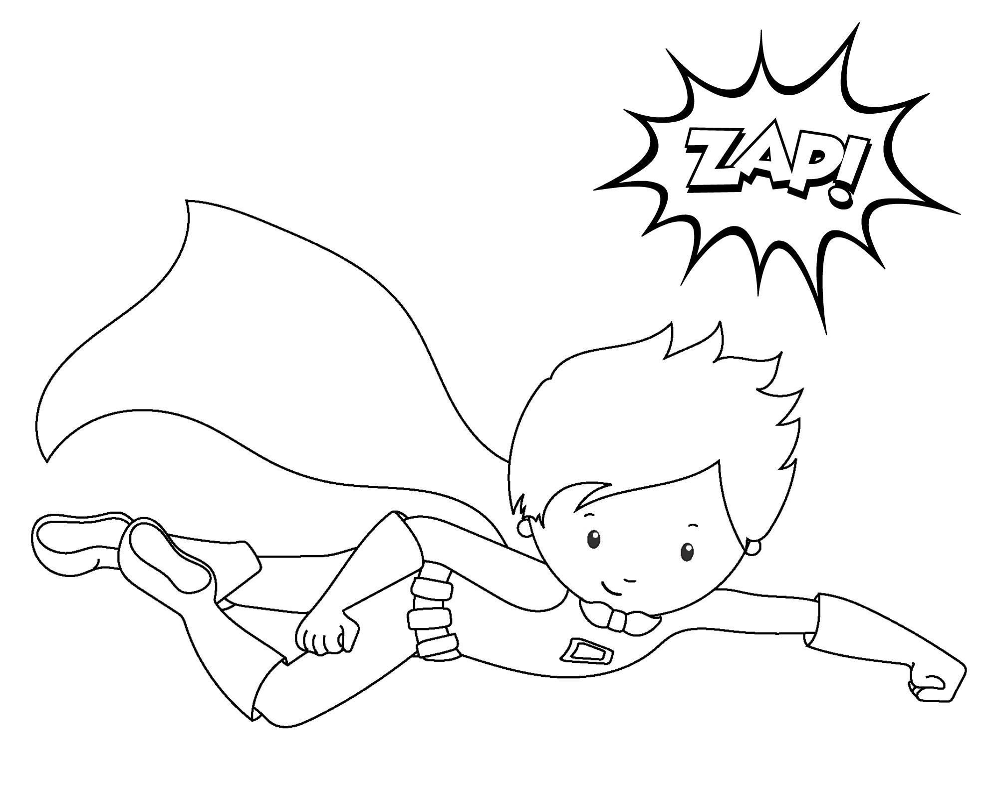 Superhero Coloring Pages | Klasse