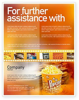 inviting to sit in a movie theater popcorn flyer template httpwww