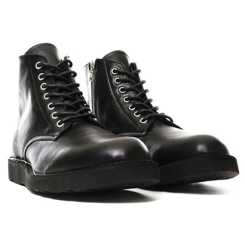9f56db8ee7c SOPHNET. 7 Hole Zip Up Boots Black   Footwear   Boots, Black boots ...