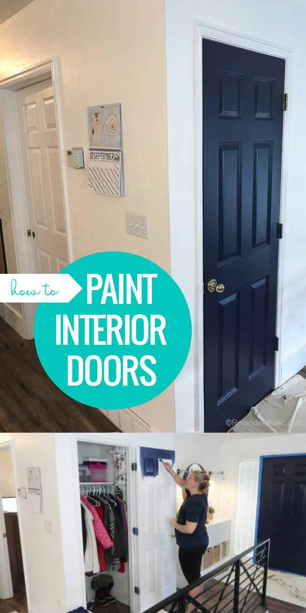 How To Paint Interior Doors With A Faux Wood Grain Finish And Raised