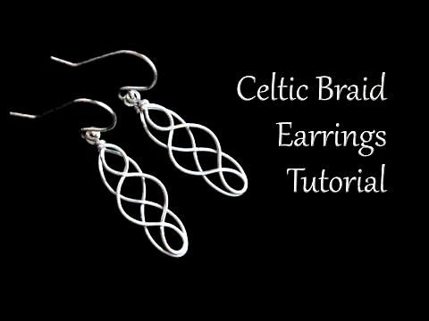 Easy Celtic Braid Wire Earrings Tutorial