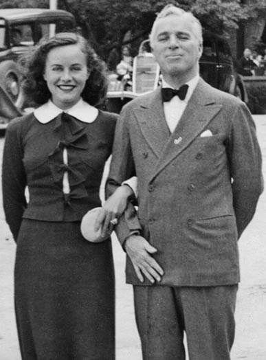 Paulette Goddard and Charles Chaplin
