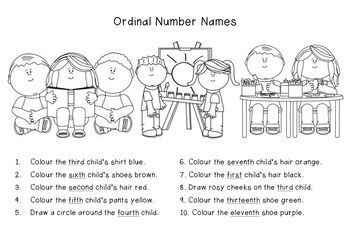 Ordinal number names amandla pinterest numbers worksheets and practise ordinal numbers colours and listening skills with this ordinal number worksheet name coloring ibookread PDF