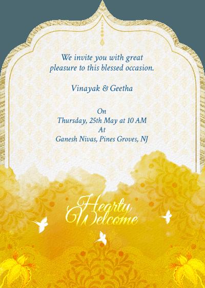 Traditional Event Invitation Digital Wedding Invitations Indian Wedding Invitation Card Design Wedding Invitation Card Design