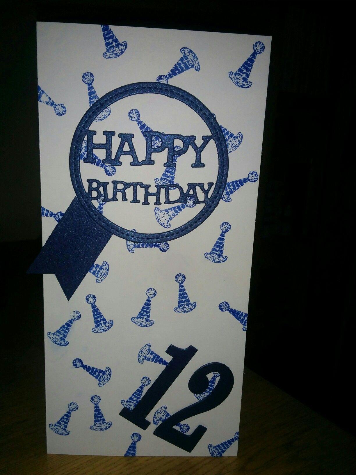 Birthday Card For A 12 Year Old Boy Old Birthday Cards Birthday Cards Paper Cards