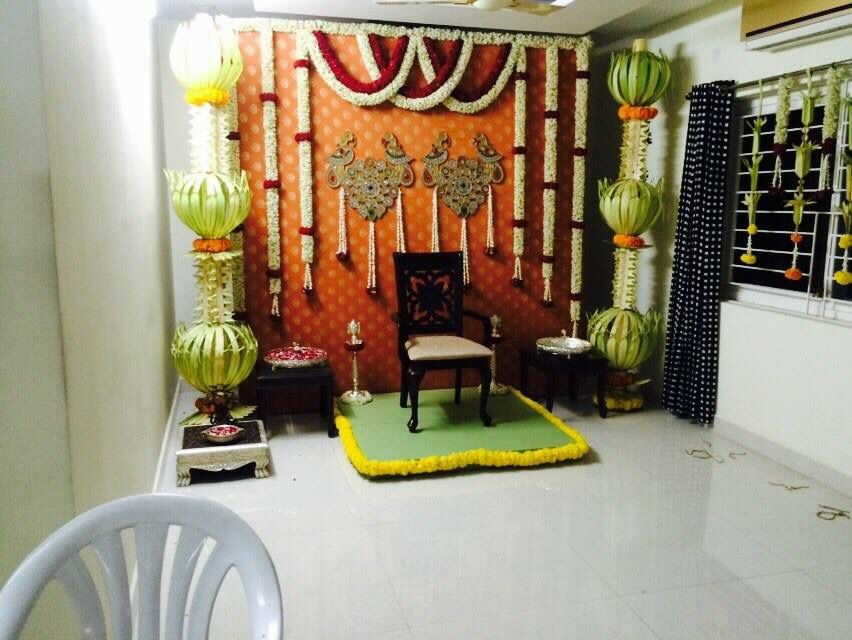 Indian wedding decor indian wedding mehandi for Wedding home decoration ideas