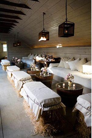 Turn Your Barn Or Garage Into An Uber Cool Urbancountrystyle Lounge Barn Parties Rustic Wedding Decor Western Wedding
