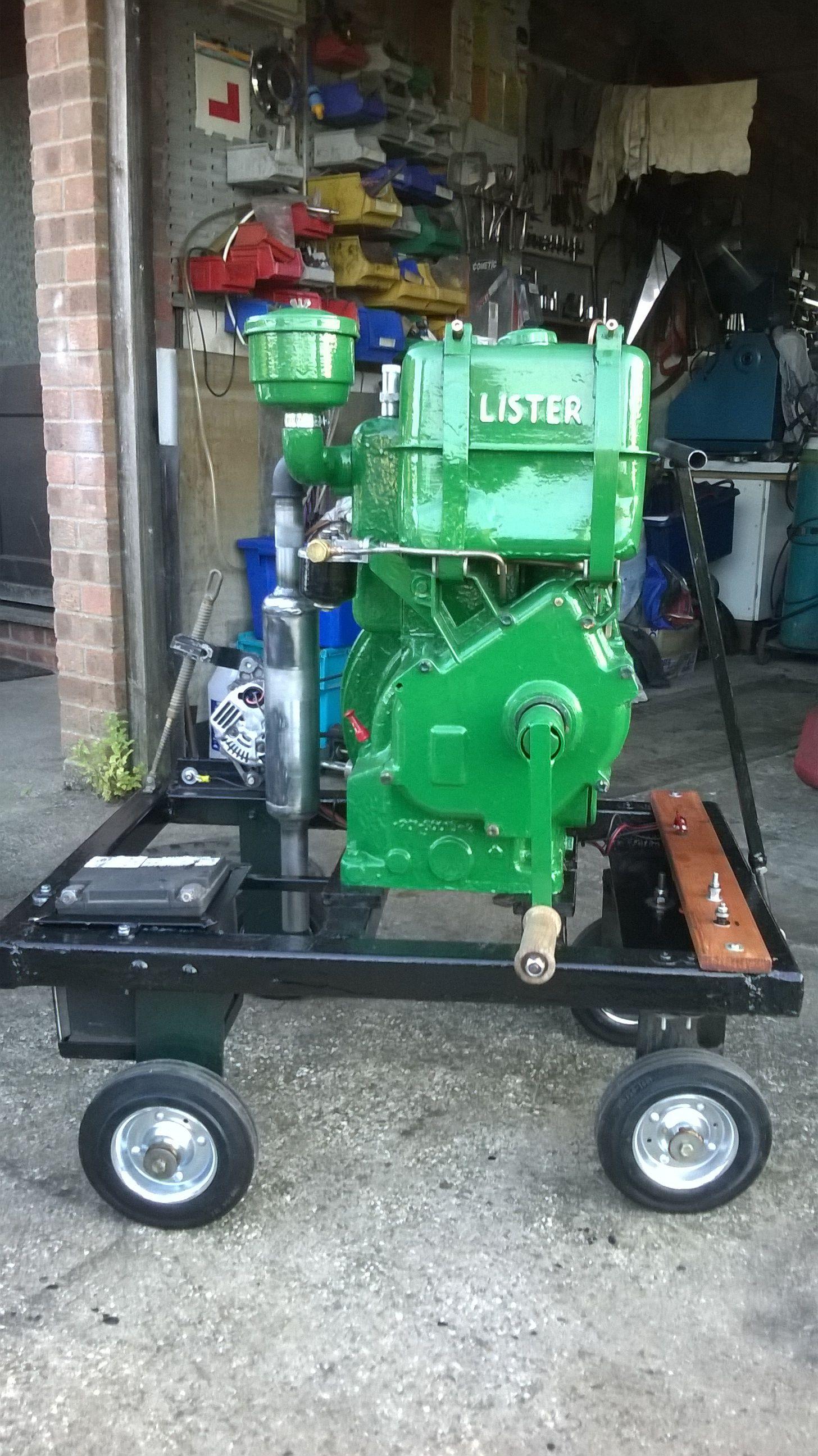 The Lister LR1 after restoration Emergency generator