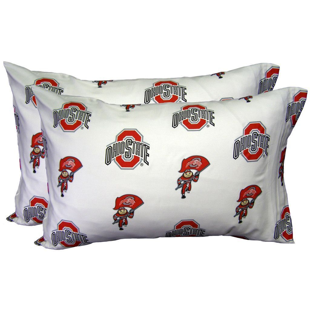 Ohio State University White Pillowcase