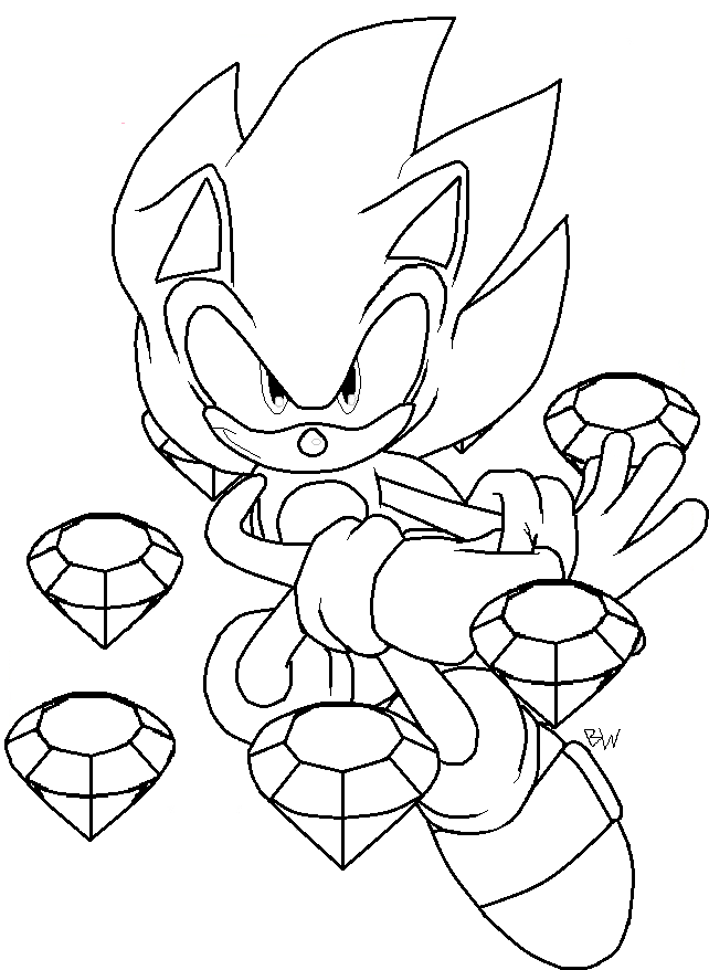 shadow printable sonic the hedgehog coloring pages