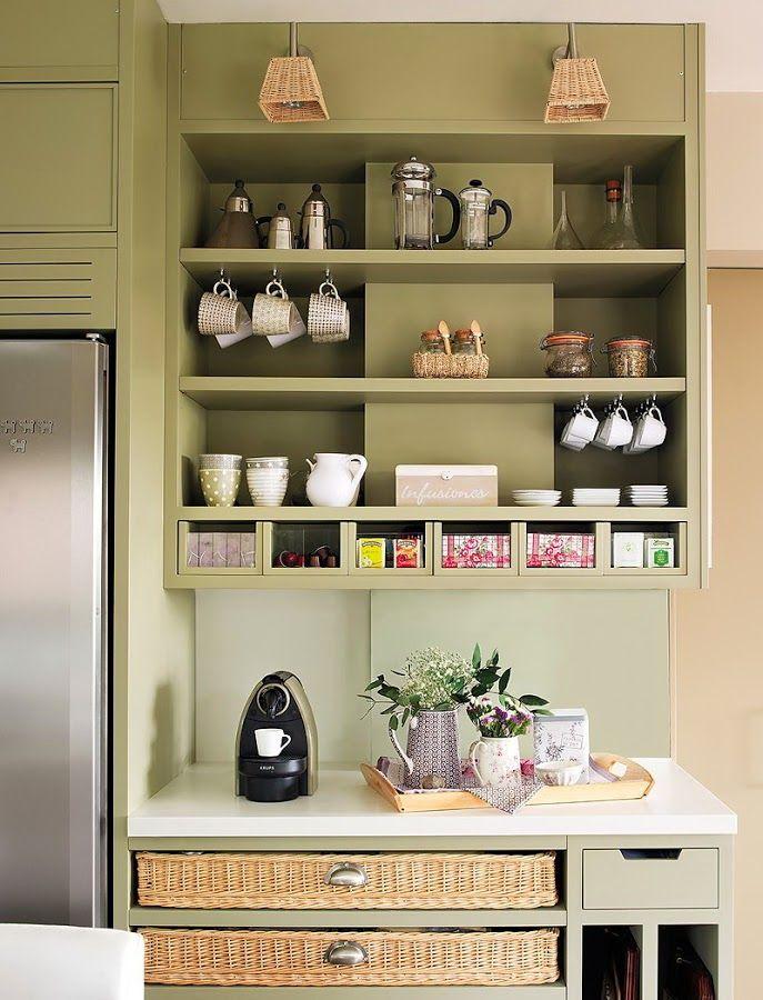 La cocina más ordenada que hemos visto jamás   Cocinas, Barra bar y ...