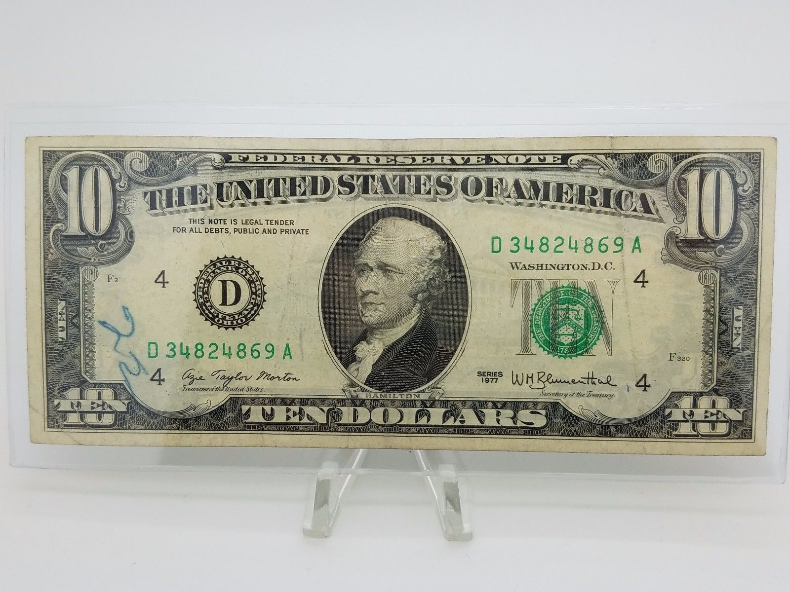 Coins Collectibles Old Paper Money 1977 Ten 10 Dollar Bill Federal Reserve Note Series Cleveland Coins 10 Dollar Bill Federal Reserve Note Valuable Coins
