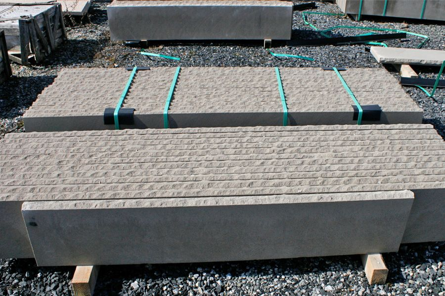 Great Limestone Stair Tread Sample At Our New Jersey Stoneyard
