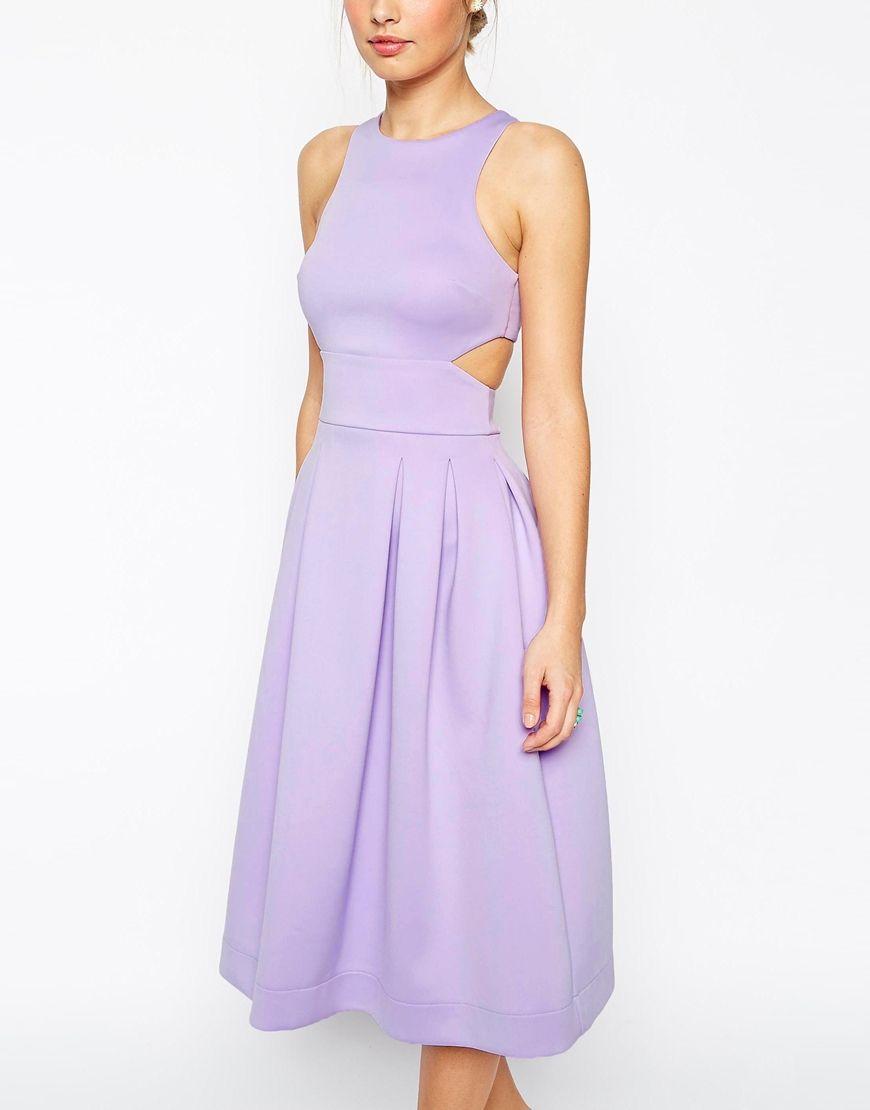 Image 3 of ASOS Crop Top Midi Debutant Scuba Dress | My Inner ...