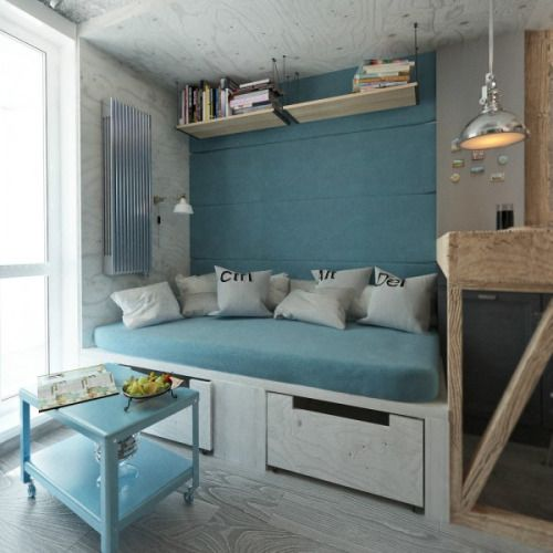 Homedesigning via 4 small beautiful apartments under 50 square meters