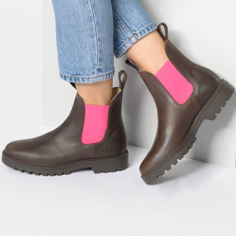 Blue Heeler Jackaroo Chelsea Boots Braun Kombi Stiefeletten Damen Schuhe Damen Stiefeletten Damen Stiefeletten