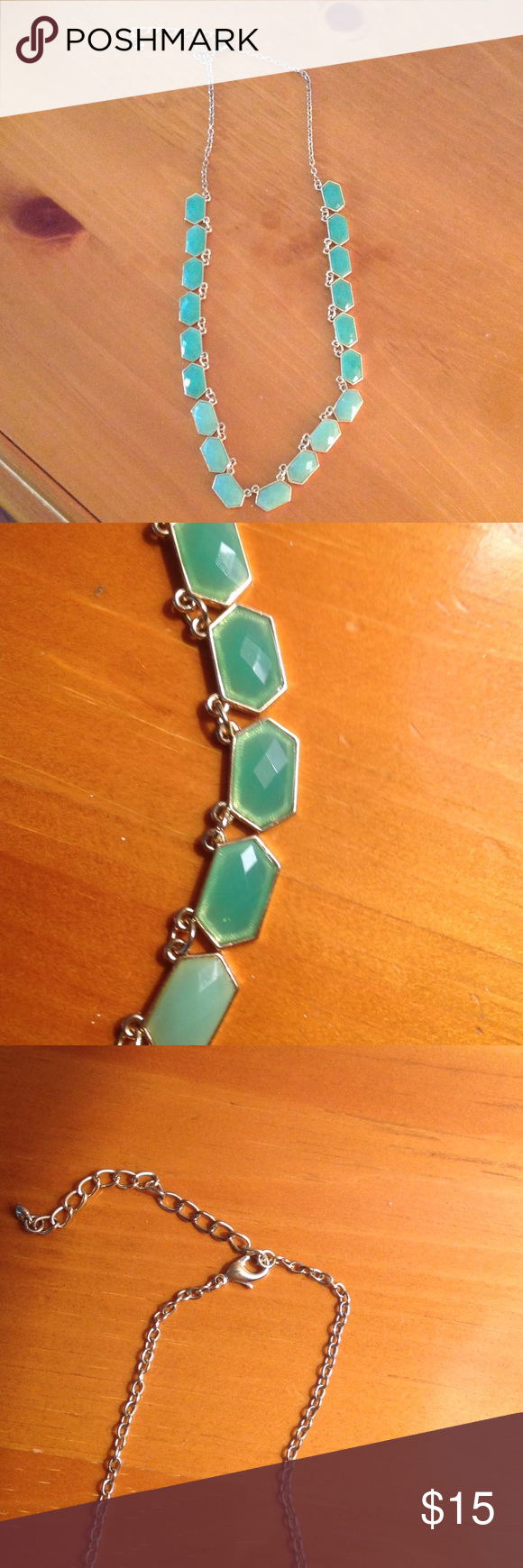 """J Crew necklace Beautiful light green necklace. Hangs 11"""" when clasped J Crew Jewelry Necklaces"""