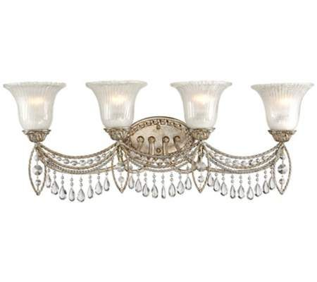 Antique Silver And Crystal 32 Bath Light 55downingstreet Com