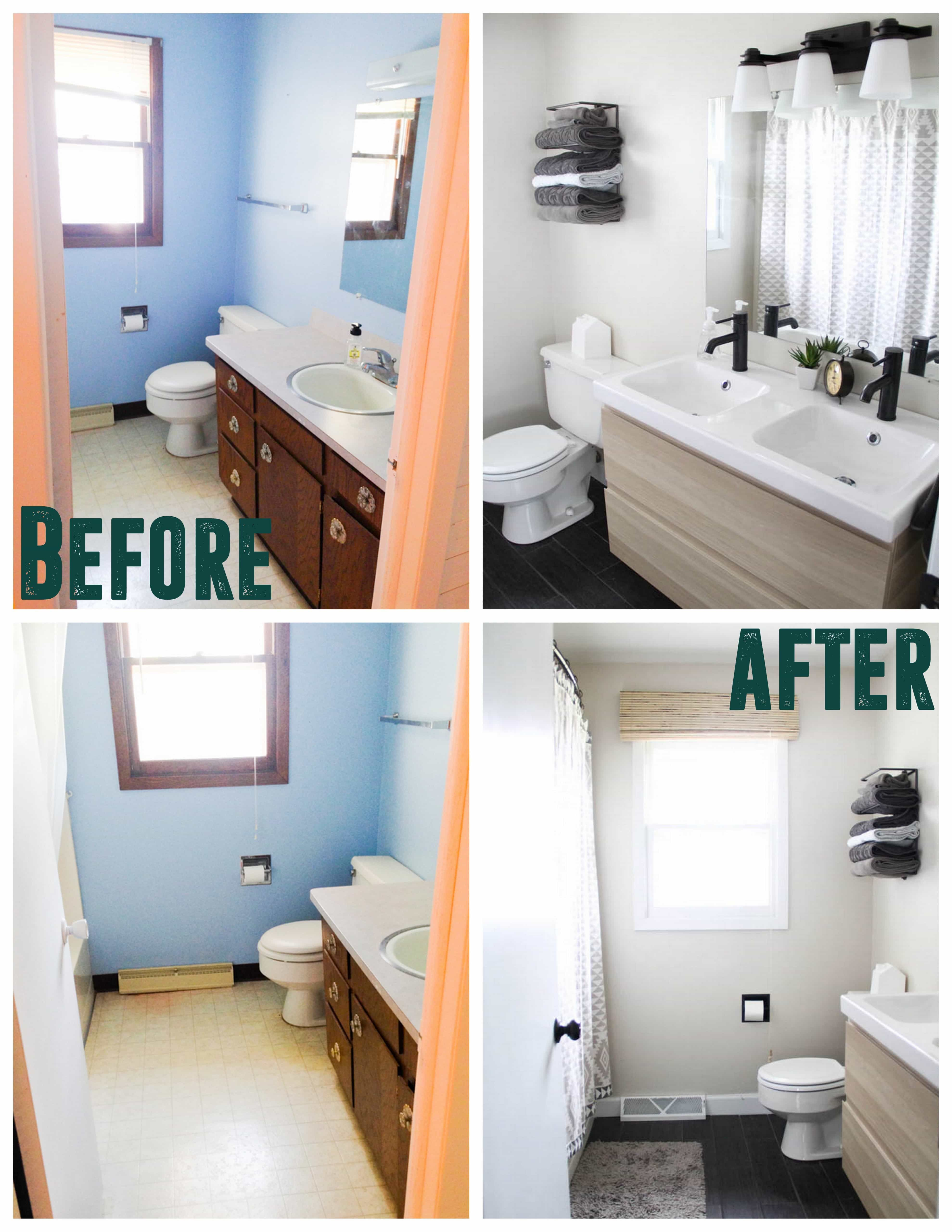 Affordable Modern Bathroom Reveal With Images Modern Bathroom Remodel Inexpensive Bathroom Remodel Budget Bathroom Remodel
