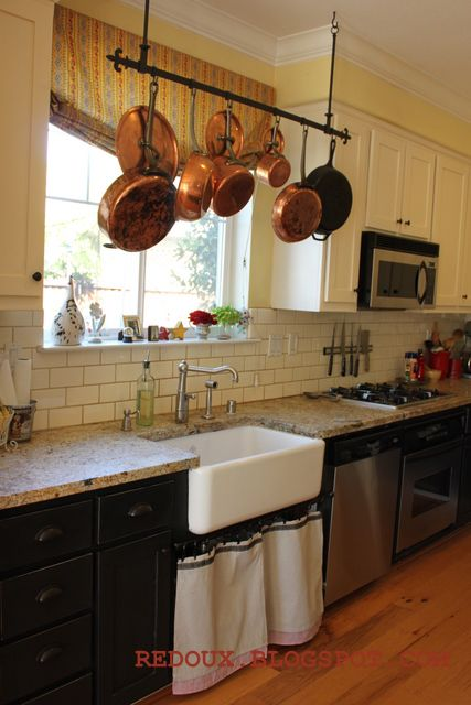 Love The Pot Rack And Kitchen Sink O