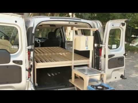Now This One S Cool Mini Camping Car Day Kitchen And Bed Set Up Car Camping Mini Van Camping Box