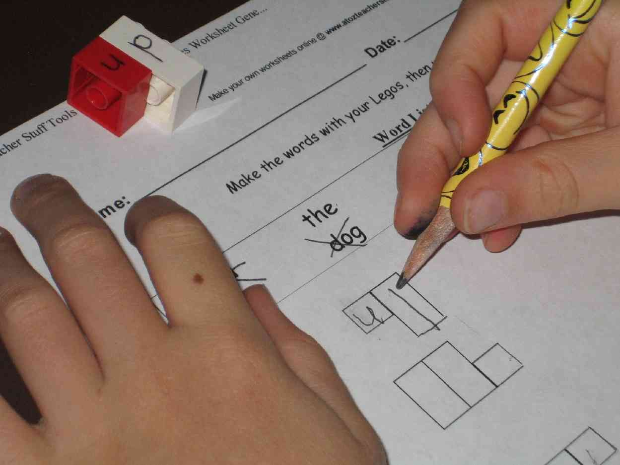 Spelling With Lego Letters And How To Make Your Own With