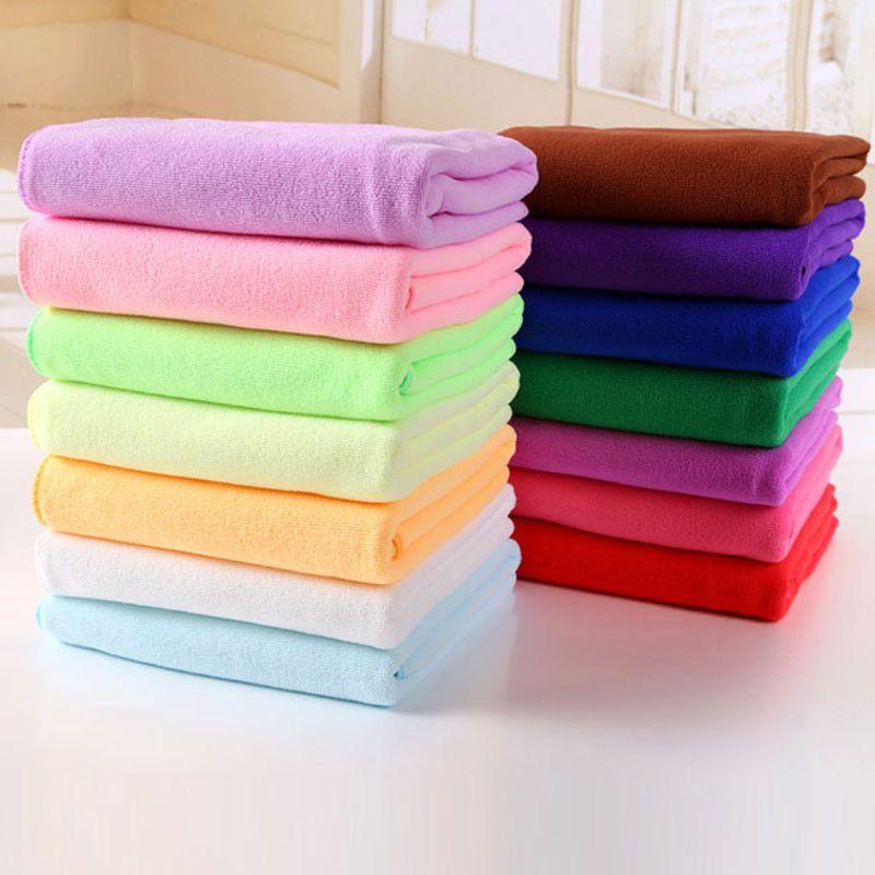 Absorbent Microfiber Dry Bath Beach Towel Wash cloth Swimwear Shower Super