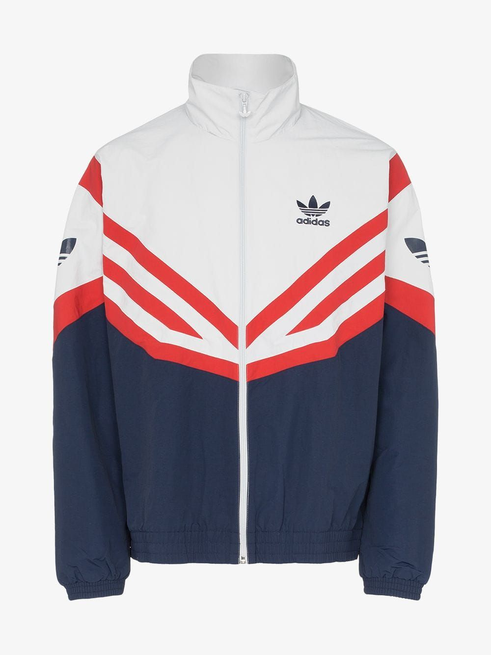 Adidas Sportive Red Stripe Track Jacket In Blue Adidas Originals