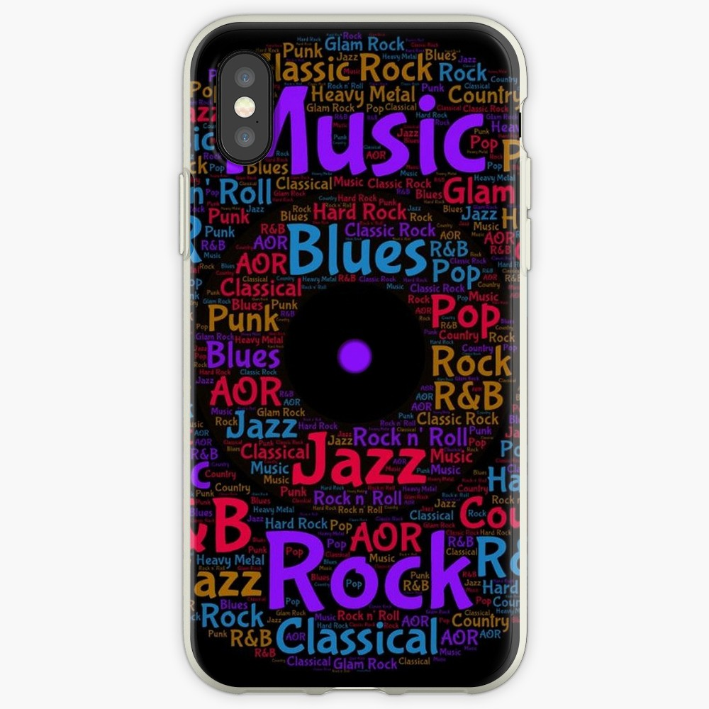 'Colorful Music Genres Logo' iPhone Case by HavenDesign