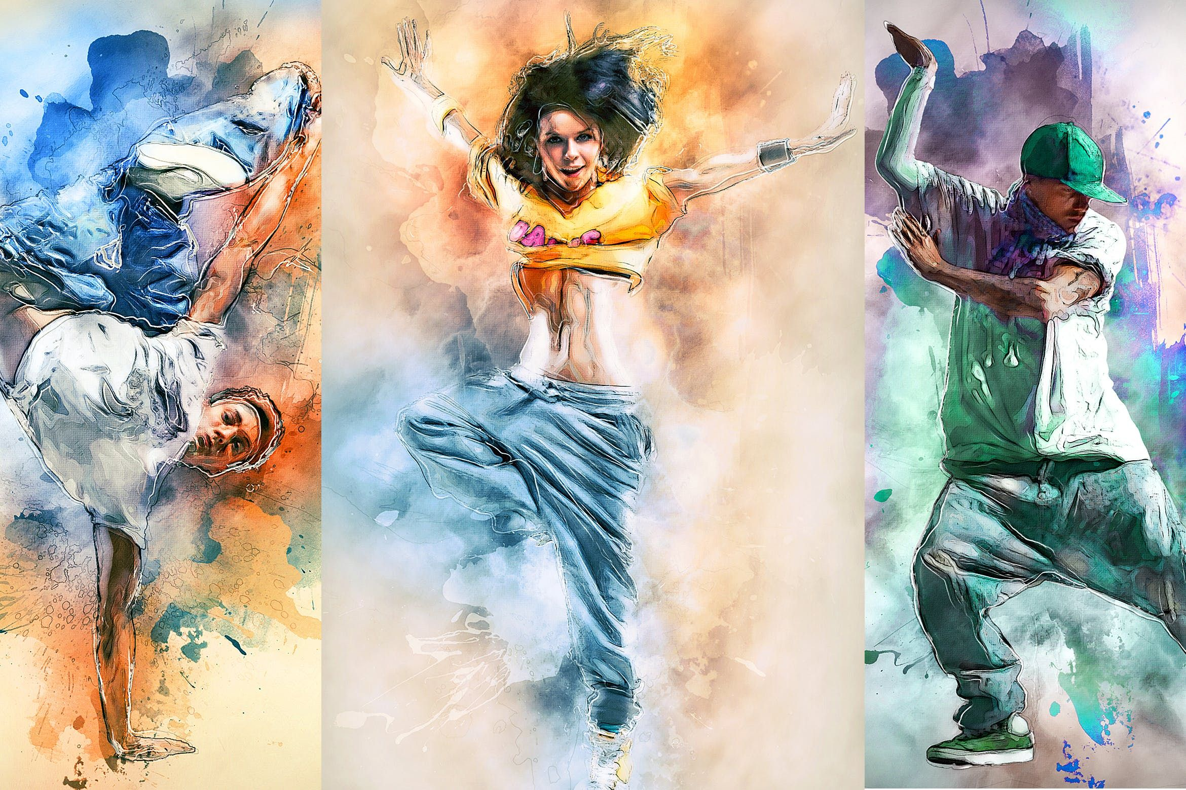 Watercolor Photoshop Action By Sevenstyles On Watercolor