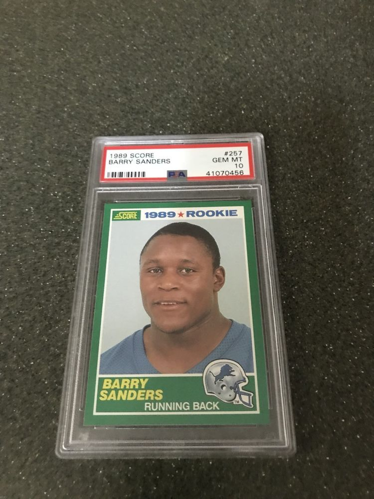barry sanders cards for sale