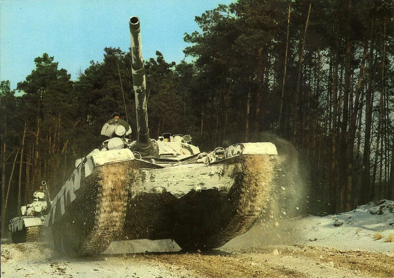 East German T-72 tanks.