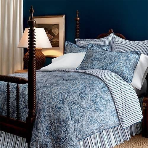 Ralph Lauren Townsend Blue Paisley comforter set - I believe this is the  pattern we have - for the future main-floor guest room.