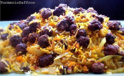 Turmeric & Saffron: Kalam Polow - Cabbage Rice