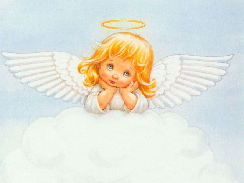 Открытка ангелочек