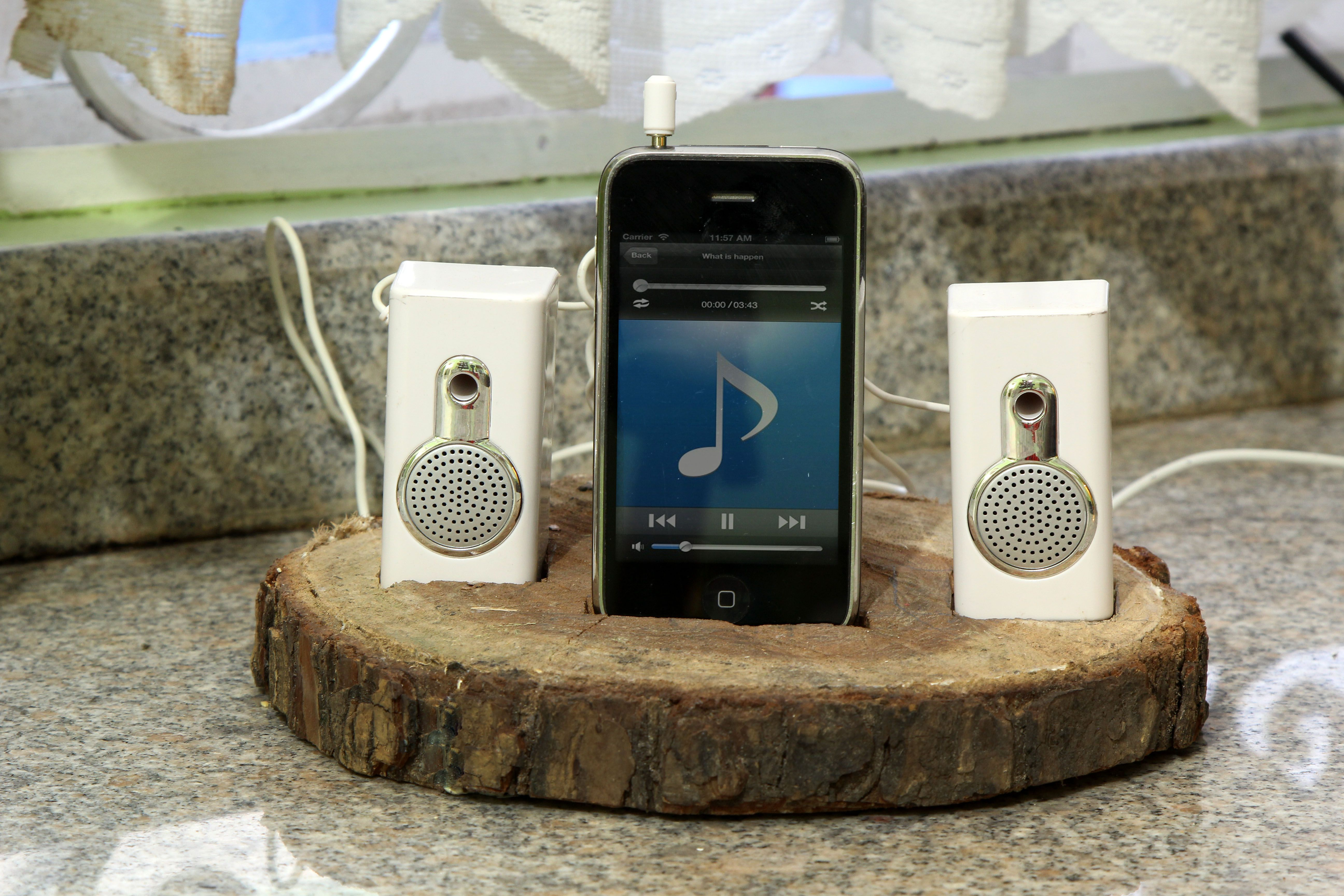 Build a Tree Trunk iPod Dock   Ipod dock, Tree trunk, Ipod