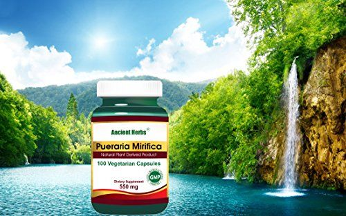 Mirifica Pueraria  Ancient Herbs 550mg 100 Vegetarian Capsules >>> Click image for more details.