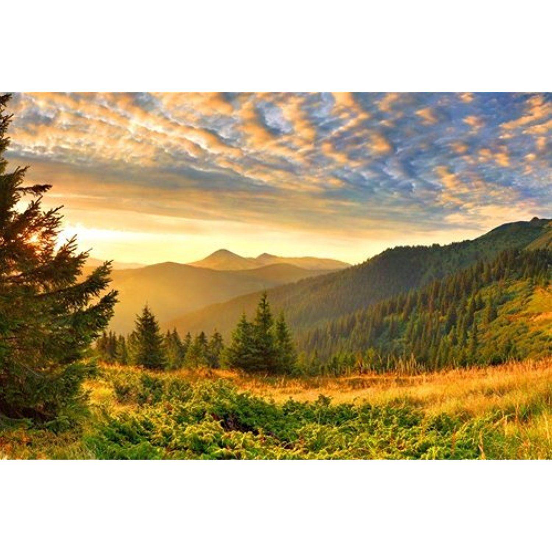 Green Mountain Sunset - Art Print Poster,Wall Decor,Home Decor ...